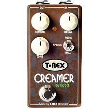 T-Rex Creamer Reverb (Spring, Hall, Room) Compact Guitar Effect Pedal - New!