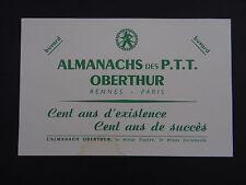 BUVARD ALMANACH des PTT OBERTHUR Rennes Paris blotter Löscher