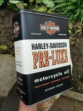 Official HARLEY-DAVIDSON Motorcycles PRE LUXE Tin Storage / Lunch Box Container