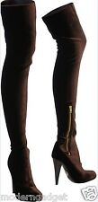 ROBERTO CAVALLI  FITTED  VELVET HIGH HEEL  OVER THE KNEE BOOTS  EU 39 US 9