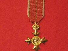 Miniature Order of the British Empire OBE Medal with Military ribbon BRAND NEW
