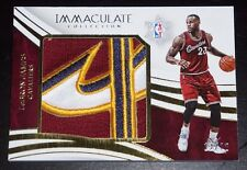 2015-16 PANINI IMMACULATE LEBRON JAMES JUMBO PATCH LOGO CHRISTMAS DAY #'d 12/12