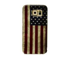 Hülle f Samsung Galaxy S6 Schutzhülle Tasche Cover Handy TPU Bumper USA Flagge