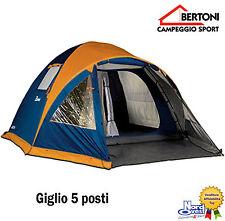 """TENDA CAMPEGGIO Igloo BERTONI - doppio telo  modello"""" GIGLIO 5 """" Tende 5 P0STI"""