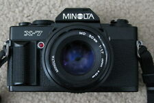 NICE Minolta X-7 35mm SLR Film Camera with MD 50mm 1:1.7 Lens FREE SHIPPING