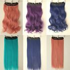 Long 3/4 Full Head Clip in Hair Extensions Straight Curly One Piece 5 Clips