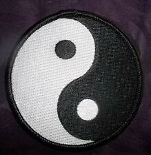 YIN YANG INN YANG EMBROIDERED PATCH CHINESE SYMBOL ZEN DIY FREE SHIPPING