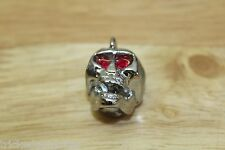 TOG SKULL KNOB CHROME WITH RED JEWEL EYES PUSH ON TYPE