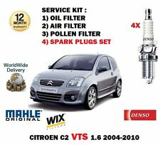 FOR CITROEN C2 1.6i VTS 125BHP 2004-12/2010 OIL AIR POLLEN FILTER KIT + PLUGS