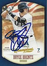 Bryce Brentz 2013 Panini USA Signed Card