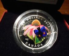 2013 Canada $20 Purple Cornflower Venetian Glass Butterfly 1oz Silver Coin
