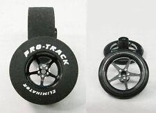 "Pro Track ""Pro Star Black"" 1 3/16"" x .700"" Matching Rr/Ft 1/24 Slot Car Tires"