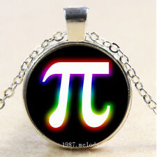 Photo Cabochon Glass Silver charms Pendant Necklace(colourful glowing pi