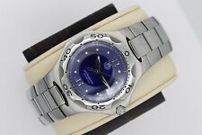 Tag Heuer Royal Blue Kirium Watch Mens WL111H Professional Mint Crystal COST $2K