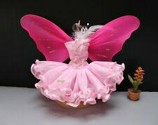 Fairytopia Butterfly Pink Costumes Outfit with wings for Barbie, Dolls Handmade