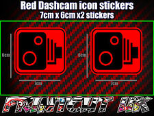 DASHCAM DASH CAM CAR CAMERA ICON STICKERS X2 decal dvr car van bike truck bus R*