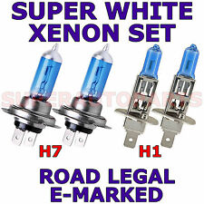FITS  ALFA ROMEO 156 1997-ON  SET H1  H7 XENON SUPER WHITE LIGHT BULBS