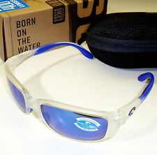 Costa Del Mar Zane Polarized Sunglasses-Crystal/Blue Mirror 400G Glass Lens