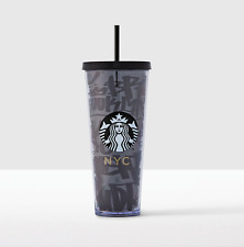 Starbucks Local Collection 2017 New York Venti 24oz Cold Cup Tumbler w Straw NWT