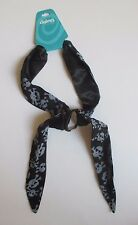 p BLACK PIRATE SKULL HEAD SCARF PONY TAIL HOLDER