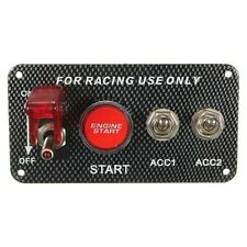 Race Car 12V Ignition Lite Panel Engine Start Push Button Toggle USA Seller