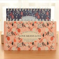"""Means Love"" 1pc Beautful Coil Spiral Planner Diary Notepad Desk Memo To Do List"