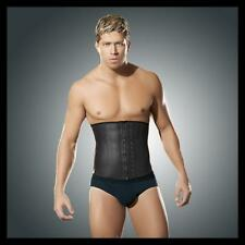 Shaper Mens Latex Corset Underbust Black Size Large Tummy Shaper