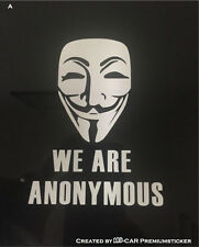 We Are Anonymous,Hacker,V wie Vendetta Aufkleber Sticker Pc Legion Expekt Us