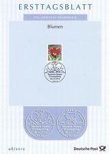 BRD 2012: Kuhschelle Ersttagsblatt Nr 2968 mit dem Bonner Ersttags-Sonderstempel