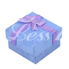 Ring Earring Necklace Paper Bow Jewellery Gift Boxes Case Display Package CA