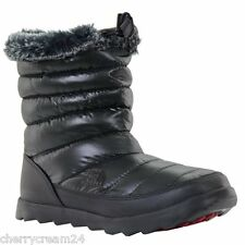The North Face Micro Baffle Bootie Black & Red Women's Winter Boots UK 7
