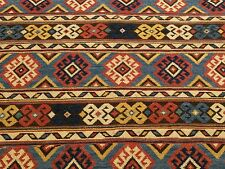 3 x 3 Handmade Vegetable Dye Hand Spun Wool Afghan Caucasian Square Area Rug