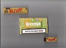 Greengo Herbal Smoking Mixture Nicotine Tobacco Free Substitute, RAW Papers Tips