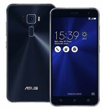 "ASUS ZenFone 3 ZE552KL Black (Factory Unlocked) 64GB 5.5"" HD 16MP Dual Sim"
