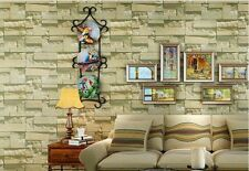 Brick Theme - 10M 3D Embossed Project Wallpaper Slate Stone Sand Brick Looking