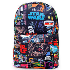 Star Wars School Backpack Comic All Over Print Large Loungefly Bag Licensed
