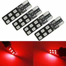 4-pc Red Color Error Free T10 2825 W5W LED Bulb For Parking Position Light 4D