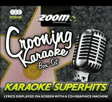 ZOOM KARAOKE CDG    CROONING   SUPERHITS BOX SET     3  DISC 75 SONG