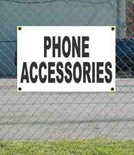 2x3 PHONE ACCESSORIES Black & White Banner Sign NEW Discount Size &  Price