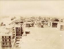 Photo Zangaki Albuminé Egypte Port Said Canal de Suez Vers 1880