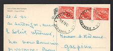 PALAU / CAPO D'ORSO (ITALIE) ROCHER Nommé , oblitération postale sassari en 1966