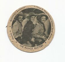 Sealtest Movie Star Lid - The Range Busters in Boothill Bandits (1942)