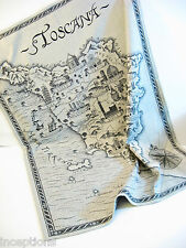 Le Telerie Toscane Italy Cotton Jacquard Kitchen Tea Towel Toscana Black - NEW