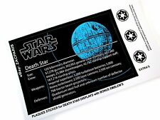 PLAQUE STICKER for Lego 75159 10188 10143 DEATH STAR ,MODELS,TOY DISPLAYS,ETC ++