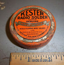 Vintage Kester Radio Solder tin, tin is empty, great graphics & colors