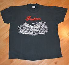 RaRe *1985 INDIAN MOTORCYCLE* vtg faded biker harley t-shirt 80s (XL) 1946 Chief