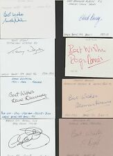 Signed CARD by MICHAEL DULIN the 1955-57 TOTTENHAM HOTSPUR Footballe