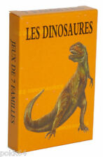Jeu de cartes les 7 familles Les Dinosaures préhistoire 24576