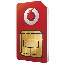 Vodafone Micro Sim Card For Apple iPhone 4 & iPhone 4S 5 5S 6 7 Pay As You Go