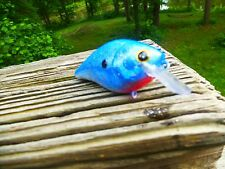 CRANKBAIT CUSTOM PAINTED LUCKYCRAFT STYLE RC.1.5 SQUAREBILL - BLUE WITH RED